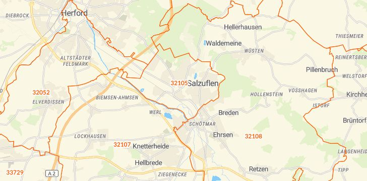 Straßenkarte mit Hausnummern Bad Salzuflen