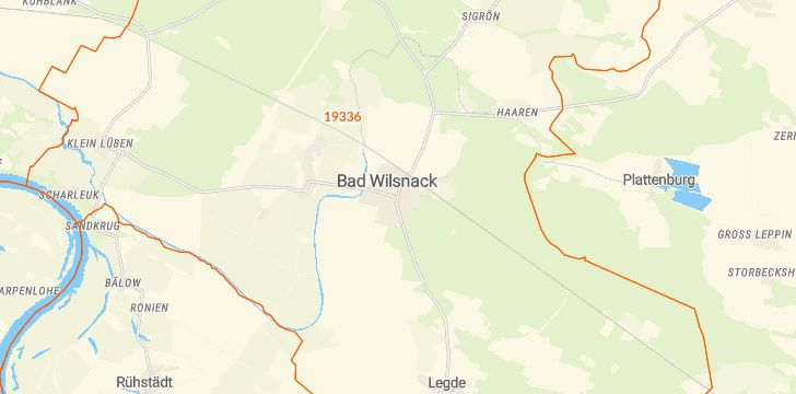 Straßenkarte mit Hausnummern Bad Wilsnack