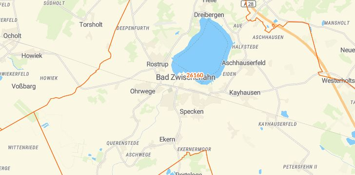 Straßenkarte mit Hausnummern Bad Zwischenahn