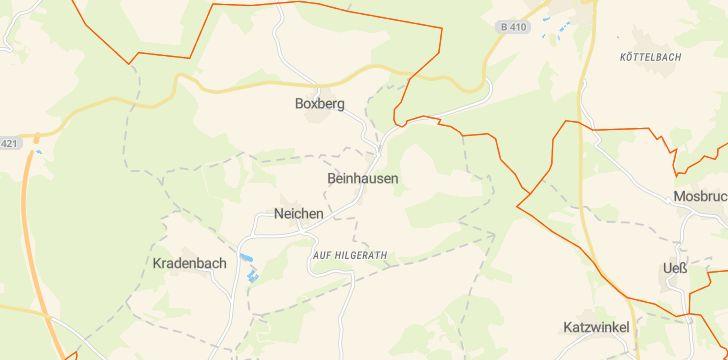 Straßenkarte mit Hausnummern Beinhausen