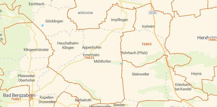 Straßenkarte mit Hausnummern Billigheim-Ingenheim
