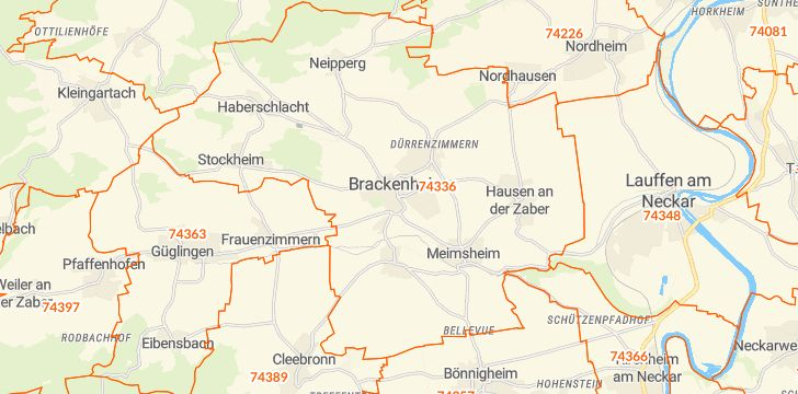 Straßenkarte mit Hausnummern Brackenheim