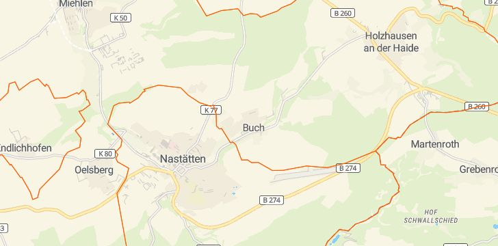 Straßenkarte mit Hausnummern Buch (Taunus)