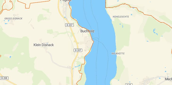 Straßenkarte mit Hausnummern Buchholz bei Ratzeburg
