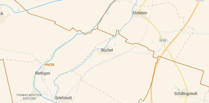Straßenkarte mit Hausnummern Büchel (Thüringen)