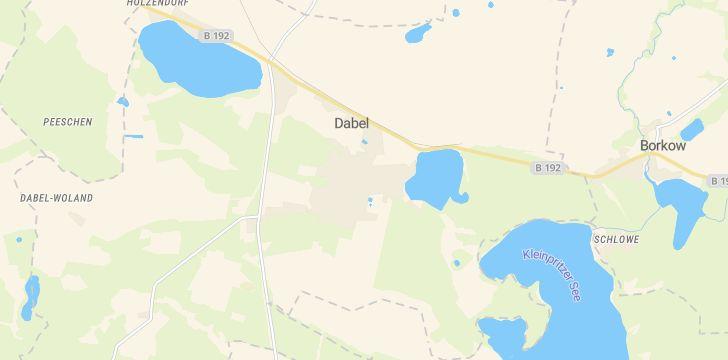 Straßenkarte mit Hausnummern Dabel