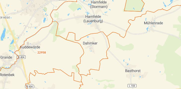 Straßenkarte mit Hausnummern Dahmker