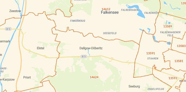 Straßenkarte mit Hausnummern Dallgow-Döberitz