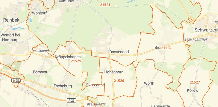 Straßenkarte mit Hausnummern Dassendorf