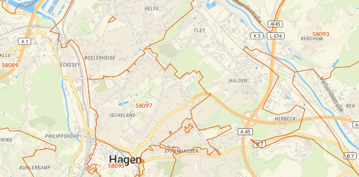 Straßenkarte mit Hausnummern Hochschulviertel