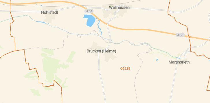 Straßenkarte mit Hausnummern Brücken-Hackpfüffel