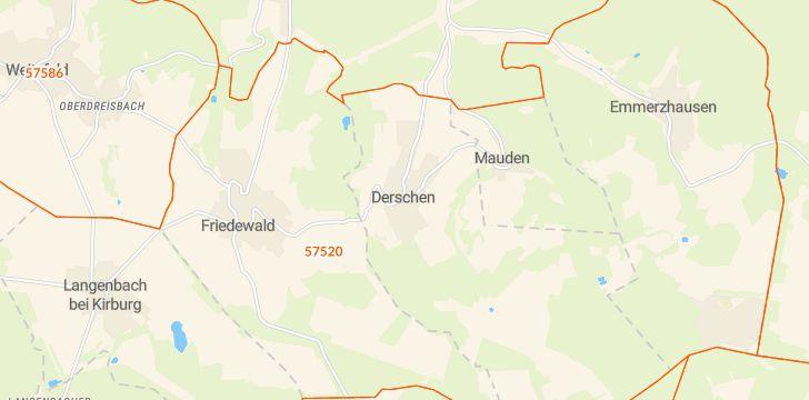 Straßenkarte mit Hausnummern Derschen