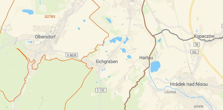 Straßenkarte mit Hausnummern Eichgraben