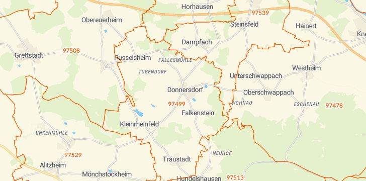 Straßenkarte mit Hausnummern Donnersdorf