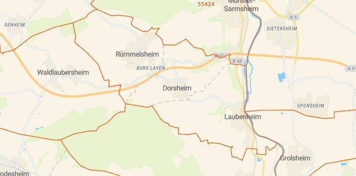 Straßenkarte mit Hausnummern Dorsheim