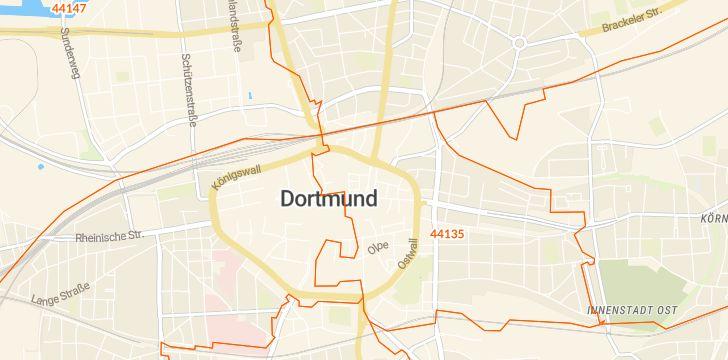 Straßenkarte mit Hausnummern Dortmund