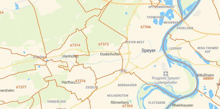 Straßenkarte mit Hausnummern Dudenhofen