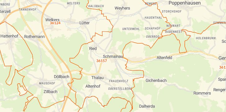 Straßenkarte mit Hausnummern Ebersburg
