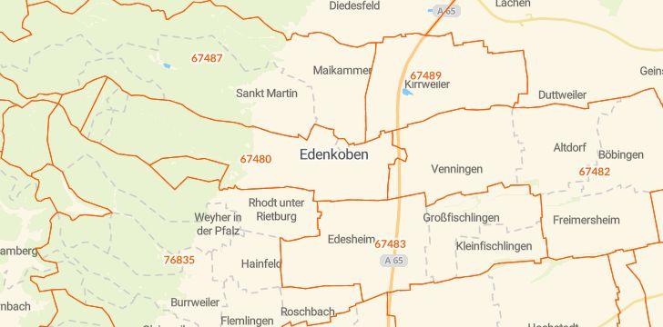 Straßenkarte mit Hausnummern Edenkoben