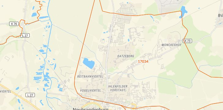 Straßenkarte mit Hausnummern Brauereiviertel