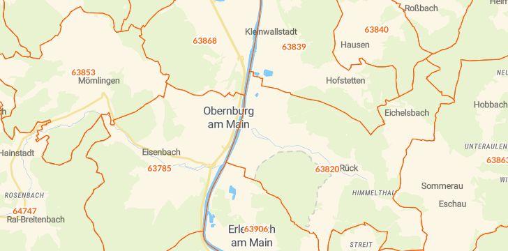 Straßenkarte mit Hausnummern Elsenfeld