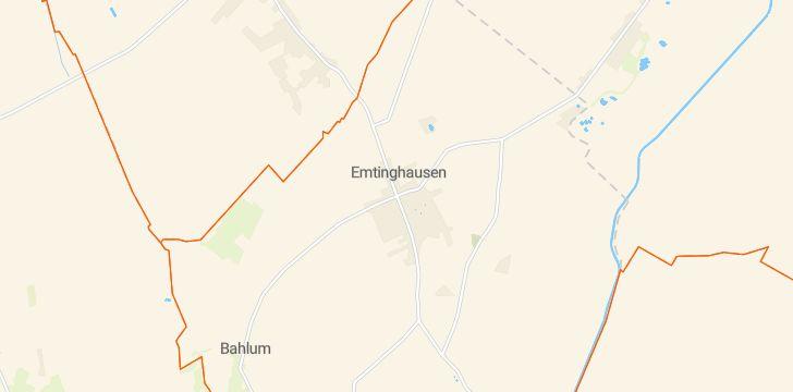 Straßenkarte mit Hausnummern Emtinghausen