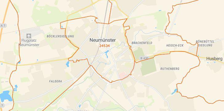 Straßenkarte mit Hausnummern Innenstadt