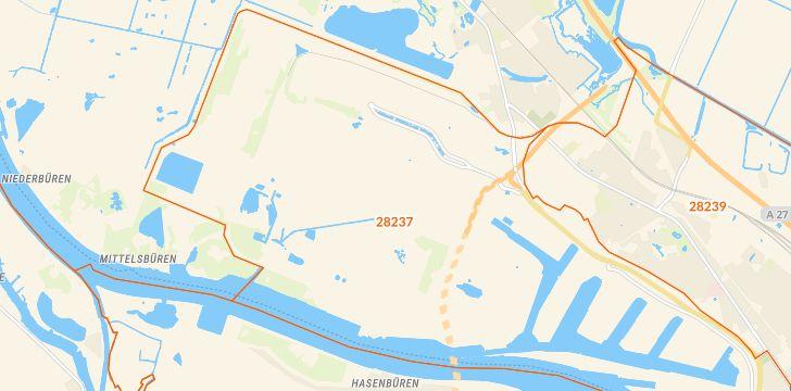 Straßenkarte mit Hausnummern Stadtbremisches Überseehafengebiet Bremerhaven