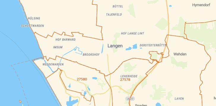 Straßenkarte mit Hausnummern Geestland