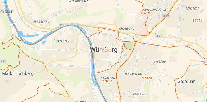 Straßenkarte mit Hausnummern Altstadt