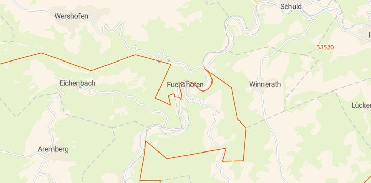 Straßenkarte mit Hausnummern Fuchshofen