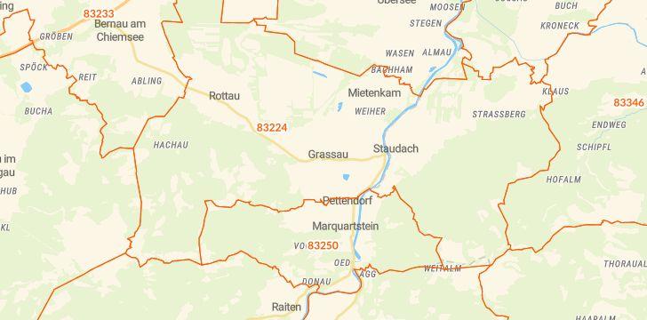 Straßenkarte mit Hausnummern Grassau