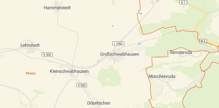 Straßenkarte mit Hausnummern Großschwabhausen