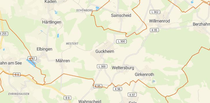 Straßenkarte mit Hausnummern Guckheim