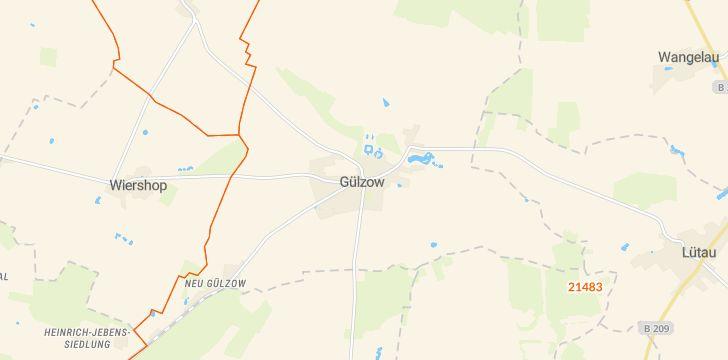 Straßenkarte mit Hausnummern Gülzow (Lauenburg)