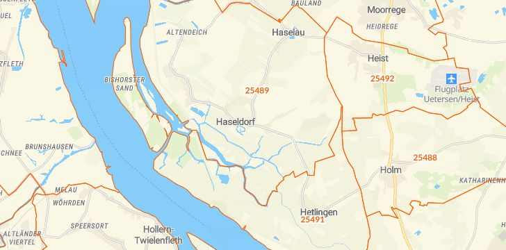 Straßenkarte mit Hausnummern Haseldorf