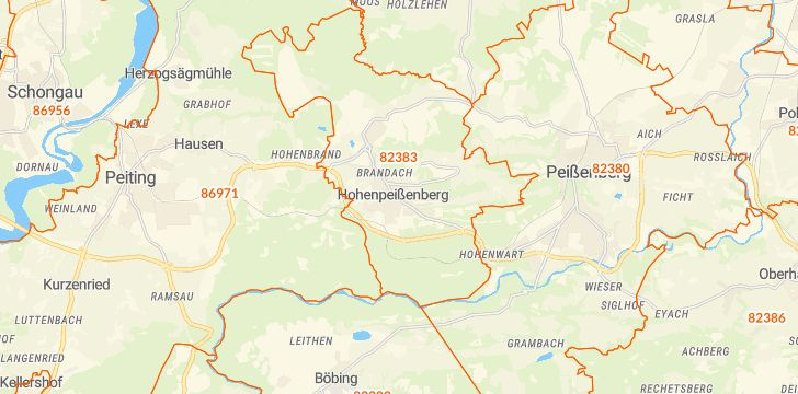 Straßenkarte mit Hausnummern Hohenpeißenberg