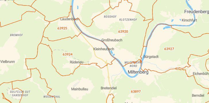 Straßenkarte mit Hausnummern Kleinheubach