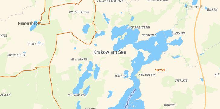 Straßenkarte mit Hausnummern Krakow am See