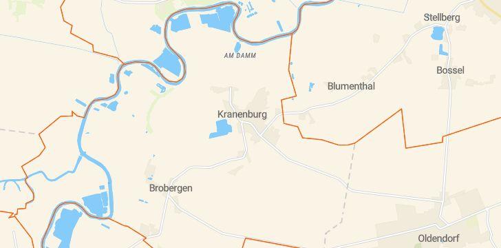 Straßenkarte mit Hausnummern Kranenburg (Oste)