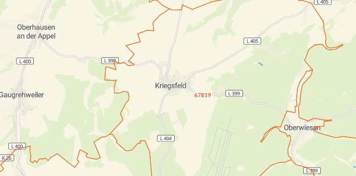 Straßenkarte mit Hausnummern Kriegsfeld