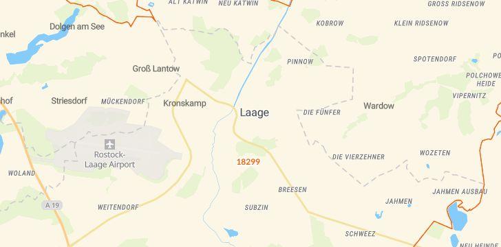 Straßenkarte mit Hausnummern Laage