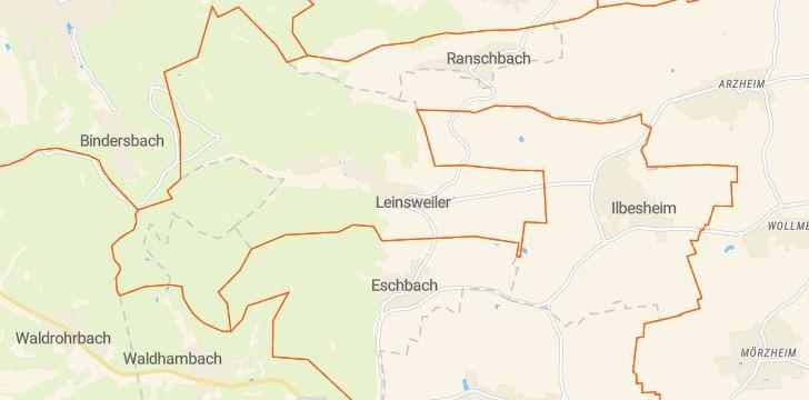 Straßenkarte mit Hausnummern Leinsweiler
