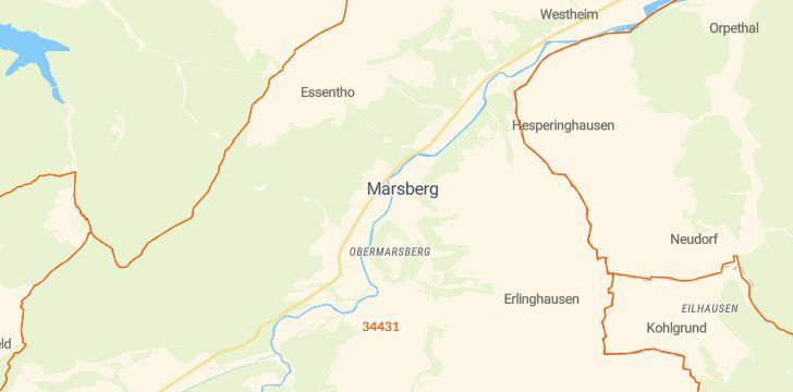 Straßenkarte mit Hausnummern Marsberg