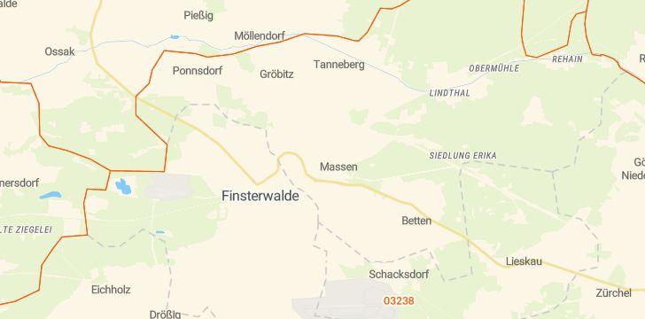 Straßenkarte mit Hausnummern Massen-Niederlausitz
