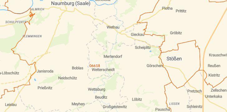 Straßenkarte mit Hausnummern Mertendorf bei Naumburg