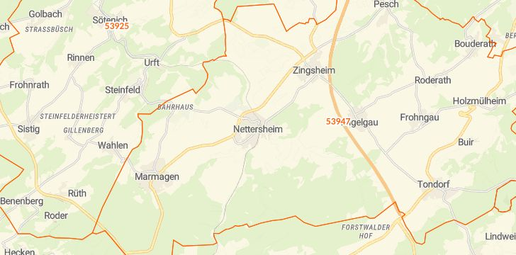 Straßenkarte mit Hausnummern Nettersheim