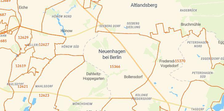 Straßenkarte mit Hausnummern Neuenhagen bei Berlin