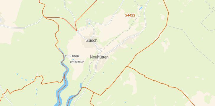 Straßenkarte mit Hausnummern Neuhütten (Hochwald)