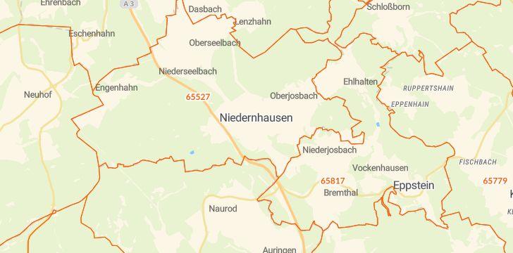 Straßenkarte mit Hausnummern Niedernhausen